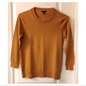 J. Crew Merino Sweater in Rust